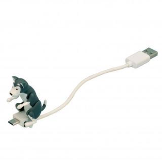 ハンピングドッグ microUSB-USBケーブル ハスキー