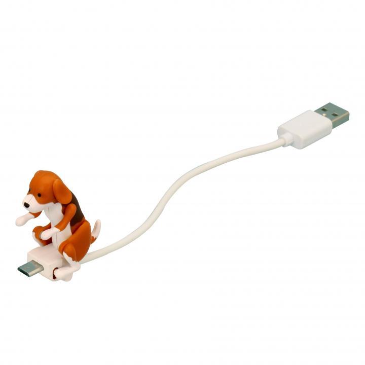 ハンピングドッグ microUSB-USBケーブル ビーグル_0