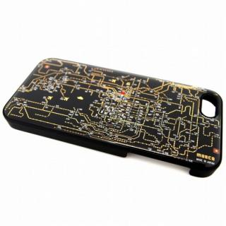 【iPhone SE/5s/5ケース】関西回路線図 黒 iPhone SE/5s/5
