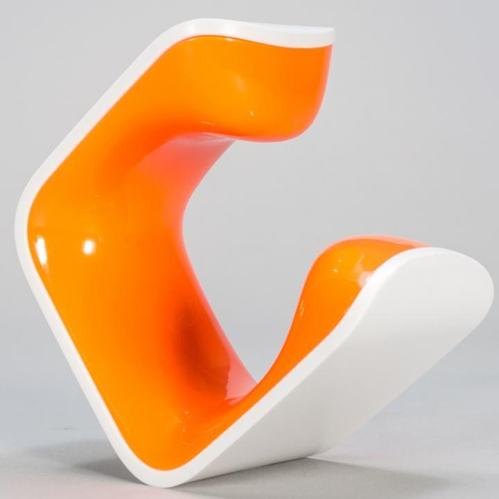 手のひらサイズの自転車スタンド CLUG オレンジ Lサイズ_0