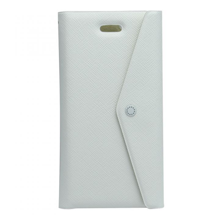 iPhone6/SE/5s/5 ケース 特殊粘着シートで汚れない 手帳型ケース CLUTCH ホワイト iPhone SE/5s/5/5cケース_0