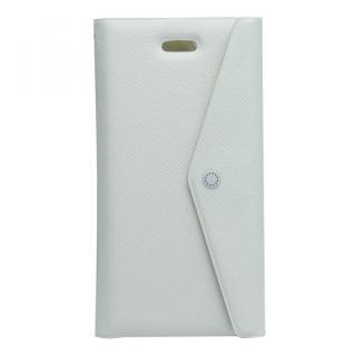 特殊粘着シートで汚れない 手帳型ケース CLUTCH ホワイト iPhone 5/5s/5cケース