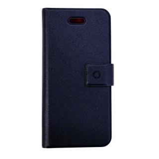 特殊粘着シートで汚れない 手帳型ケース DIARIO ネイビー iPhone SE/5s/5/5cケース