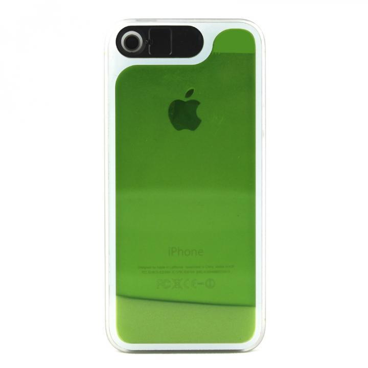【iPhone SE/5s/5ケース】ケースが光る! 砂が光る! HULA Le'a Lino ウルグリーン iPhone SE/5s/5ケース_0