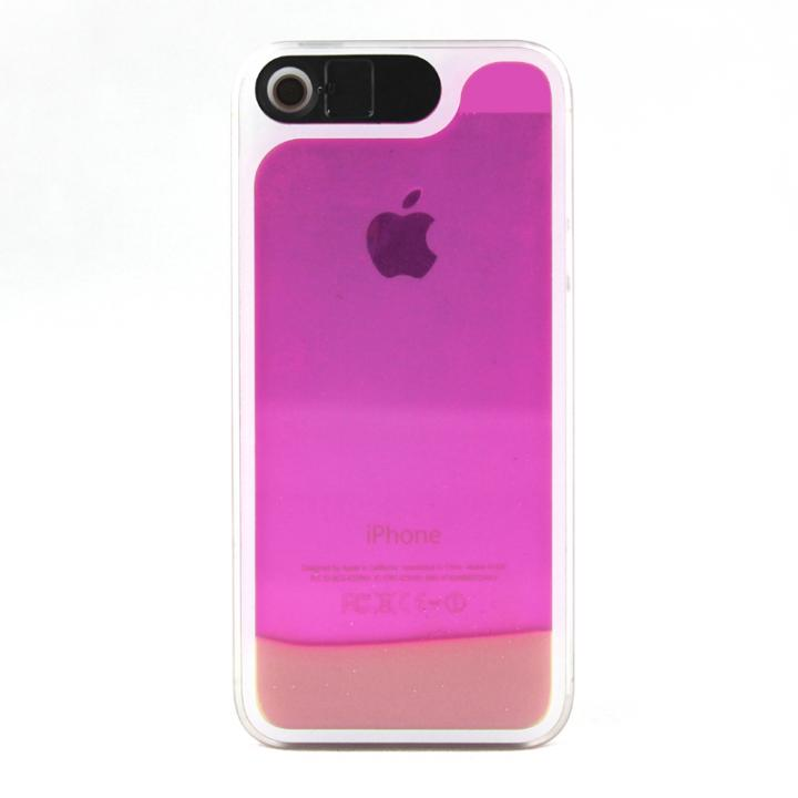 【iPhone SE/5s/5ケース】ケースが光る! 砂が光る! HULA Le'a Lino Roselaniピンク iPhone SE/5s/5ケース_0