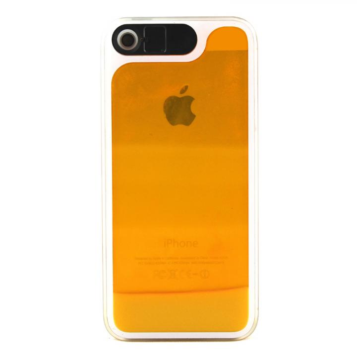 ケースが光る!砂が光る! HULA Le'a Lino マンゴーオレンジ iPhone 5s/5ケース
