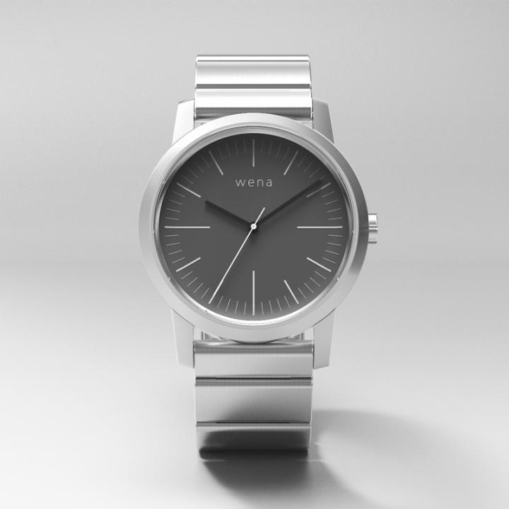 スマートウォッチ wena wrist -Three Hands Silver-_0