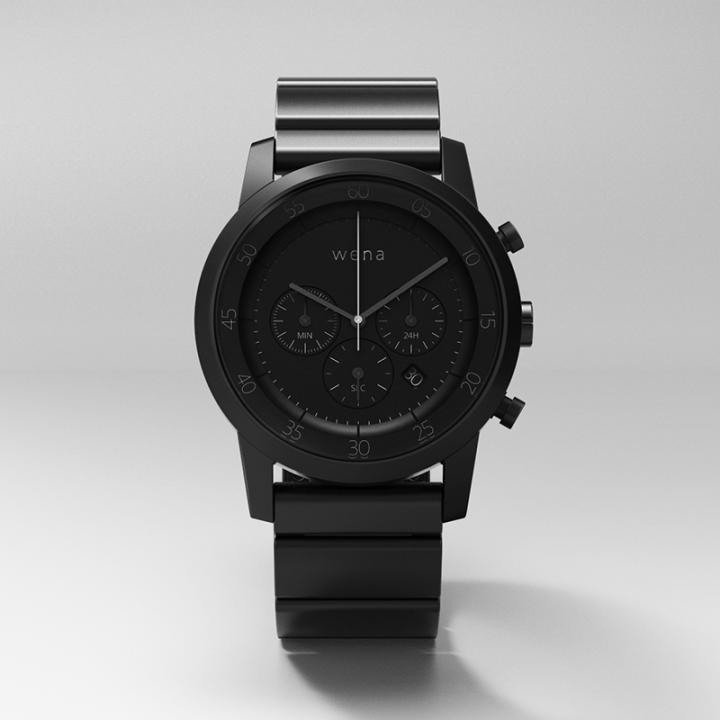 スマートウォッチ wena wrist -Chronograph Premium Black-