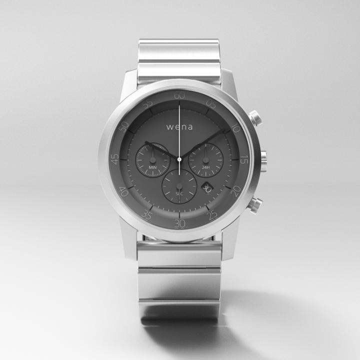 スマートウォッチ wena wrist -Chronograph Silver-_0
