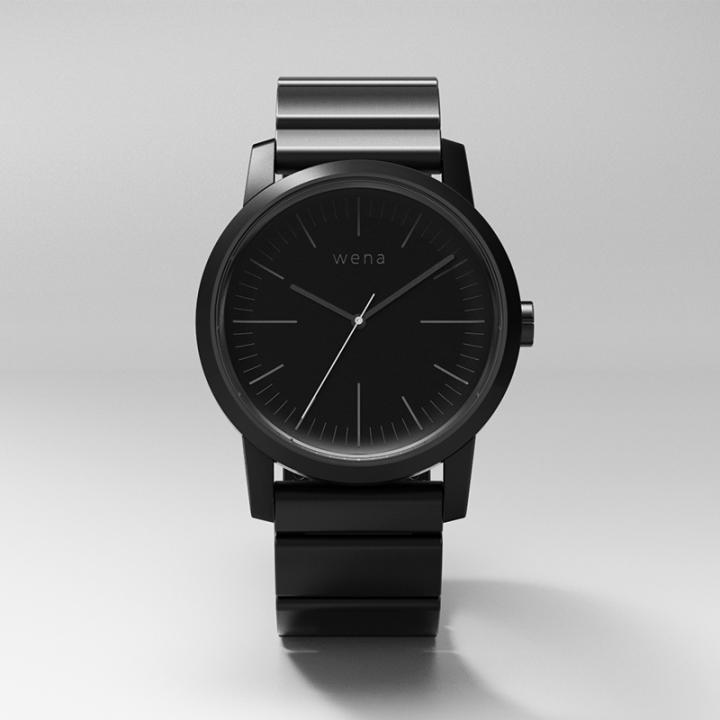 スマートウォッチ wena wrist -Three Hands Premium Black-_0