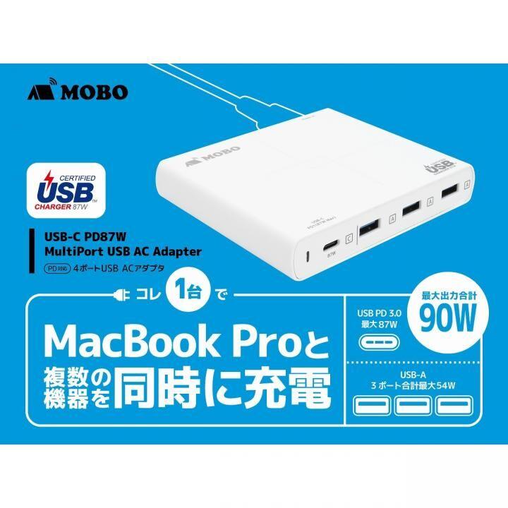 MOBO 最大出力87WのUSB-Cポートを搭載した USB充電器_0