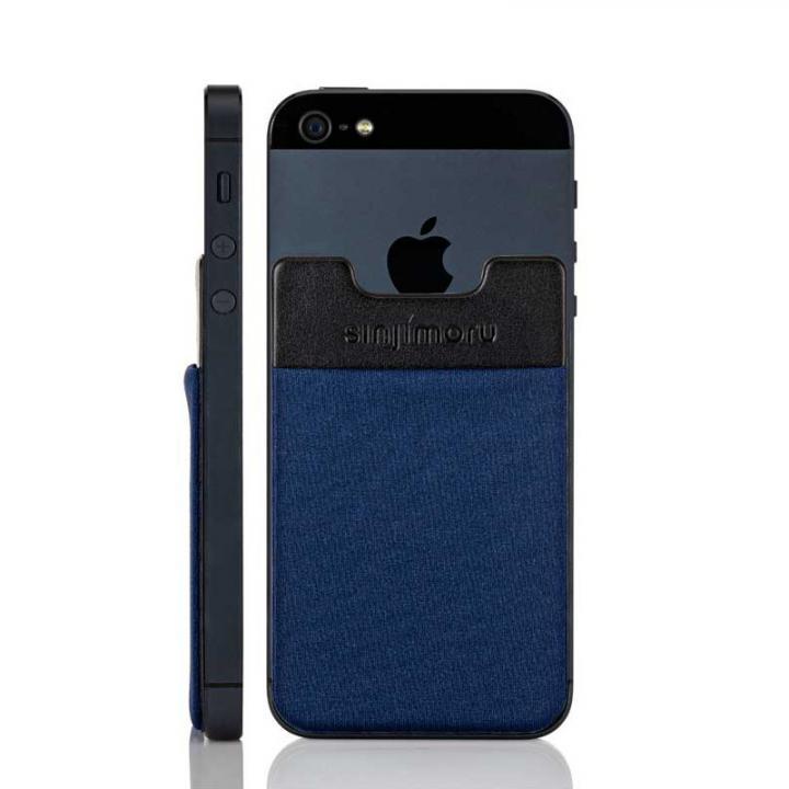 iPhone6/6 Plus ケース スマホにポケット Sinji Pouch IC ネイビー iPhone Android_0
