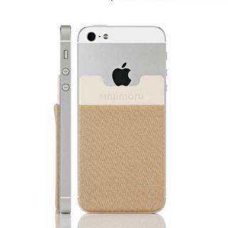 スマホにポケット Sinji Pouch IC ベージュ iPhone Android