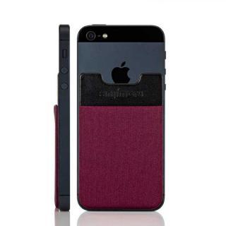 スマホにポケット Sinji Pouch IC ワインレッド iPhone Android