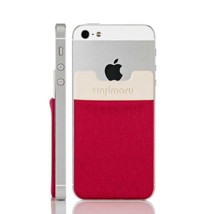 iPhone6/6 Plus ケース スマホにポケット Sinji Pouch IC レッド iPhone Android_0