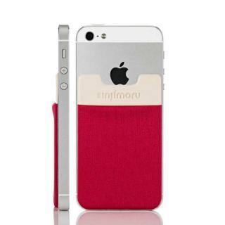 スマホにポケット Sinji Pouch IC レッド iPhone Android