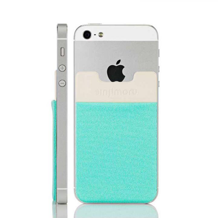 iPhone6/6 Plus ケース スマホにポケット Sinji Pouch IC ミント iPhone Android_0