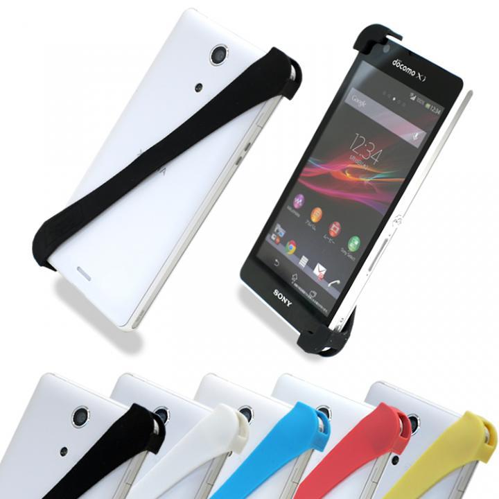 iPhone SE/5s/5 ケース 片手で楽々操作 スマホバンド ブラック(ハード)_0