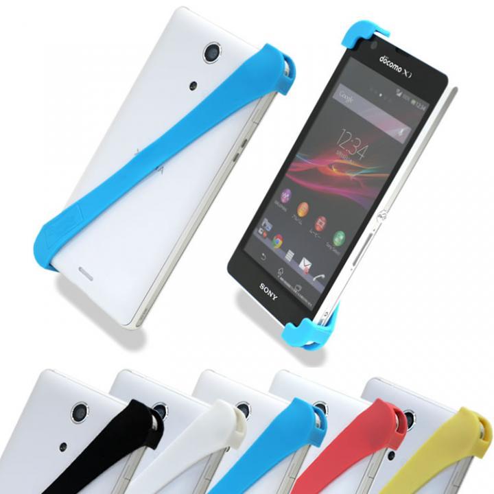 iPhone SE/5s/5 ケース 片手で楽々操作 スマホバンド ブルー(ハード)_0