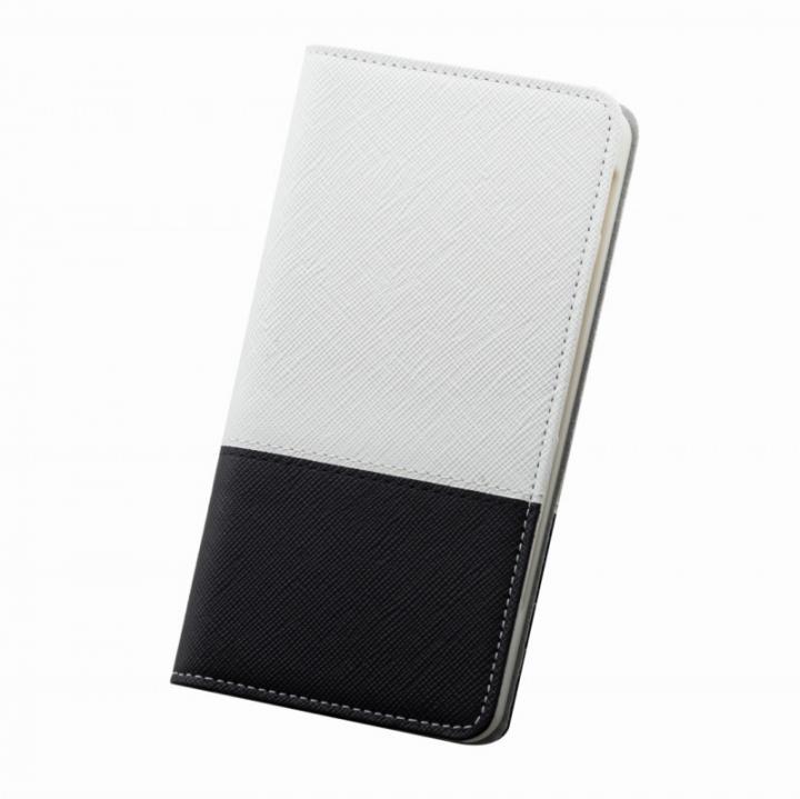 iPhone6s/6 ケース レディトキオ 手帳型本革ケース ホワイト/ブラック iPhone 6s/6_0