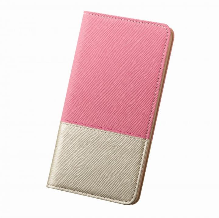 レディトキオ 手帳型本革ケース ピンク/ゴールド iPhone 6 Plus