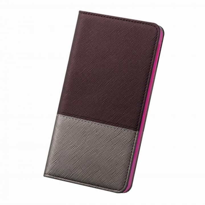 iPhone6 ケース レディトキオ 手帳型本革ケース プラム/シルバー iPhone 6_0