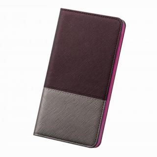 レディトキオ 手帳型本革ケース プラム/シルバー iPhone 6 Plus