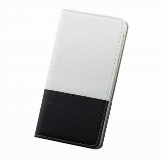 レディトキオ 手帳型本革ケース ホワイト/ブラック iPhone 6 Plus