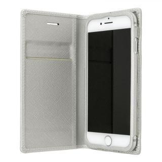 【iPhone8/7/6s/6ケース】GRAMAS COLORS Quadrifoglio PUレザー手帳型ケース プラチナシルバー iPhone 8/7/6s/6_2