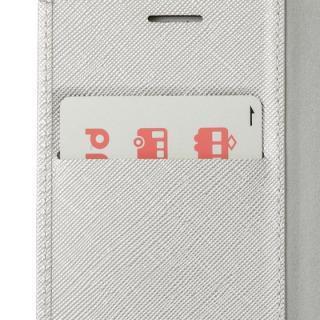 【iPhone8/7/6s/6ケース】GRAMAS COLORS Quadrifoglio PUレザー手帳型ケース プラチナシルバー iPhone 8/7/6s/6_3