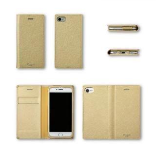 【iPhone8/7/6s/6ケース】GRAMAS COLORS Quadrifoglio PUレザー手帳型ケース プラチナシルバー iPhone 8/7/6s/6_4