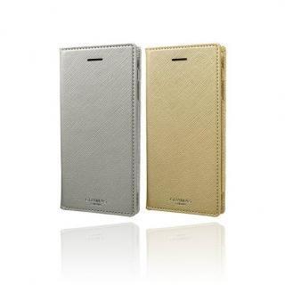 【iPhone8/7/6s/6ケース】GRAMAS COLORS Quadrifoglio PUレザー手帳型ケース プラチナシルバー iPhone 8/7/6s/6_6