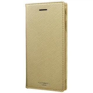 【iPhone6s ケース】GRAMAS COLORS Quadrifoglio PUレザー手帳型ケース シャンパンゴールド iPhone 8/7/6s/6