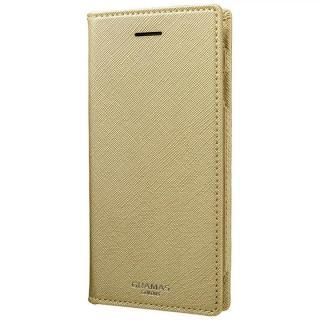 【iPhone8/7/6s/6ケース】GRAMAS COLORS Quadrifoglio PUレザー手帳型ケース シャンパンゴールド iPhone 8/7/6s/6
