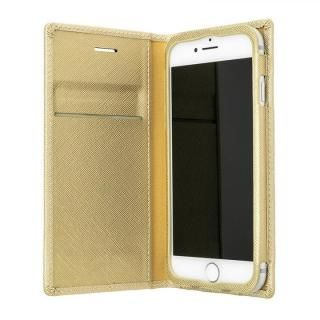 【iPhone8/7/6s/6ケース】GRAMAS COLORS Quadrifoglio PUレザー手帳型ケース シャンパンゴールド iPhone 8/7/6s/6_2