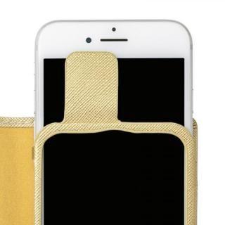 【iPhone8/7/6s/6ケース】GRAMAS COLORS Quadrifoglio PUレザー手帳型ケース シャンパンゴールド iPhone 8/7/6s/6_5