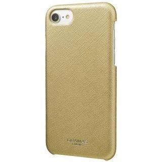 【iPhone6s ケース】GRAMAS COLORS Quadrifoglio PUレザー背面ケース シャンパンゴールド iPhone 8/7/6s/6