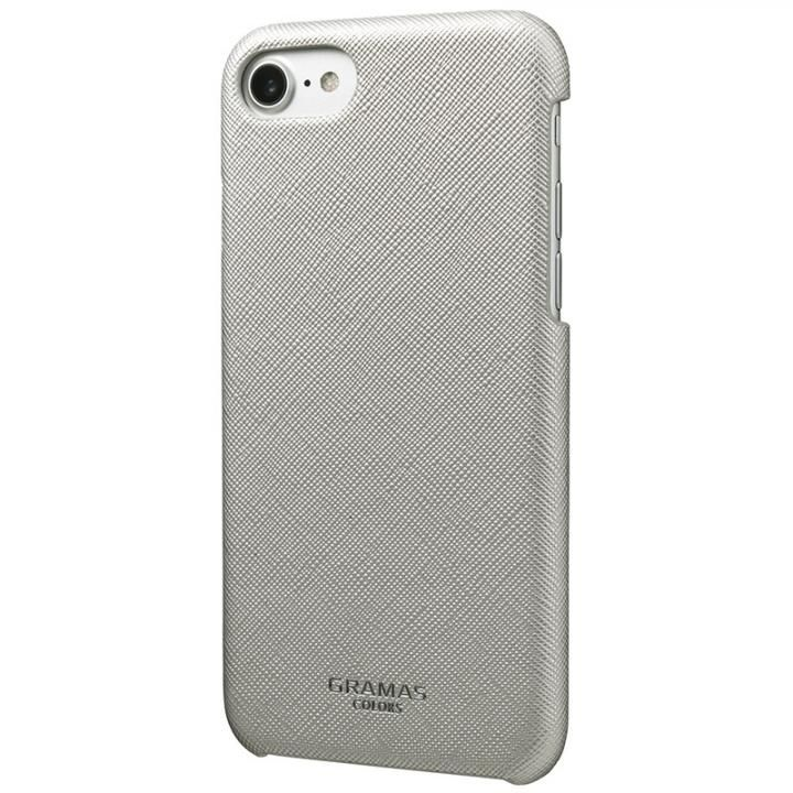 【iPhone8/7/6s/6ケース】GRAMAS COLORS Quadrifoglio PUレザー背面ケース プラチナシルバー iPhone 8/7/6s/6_0
