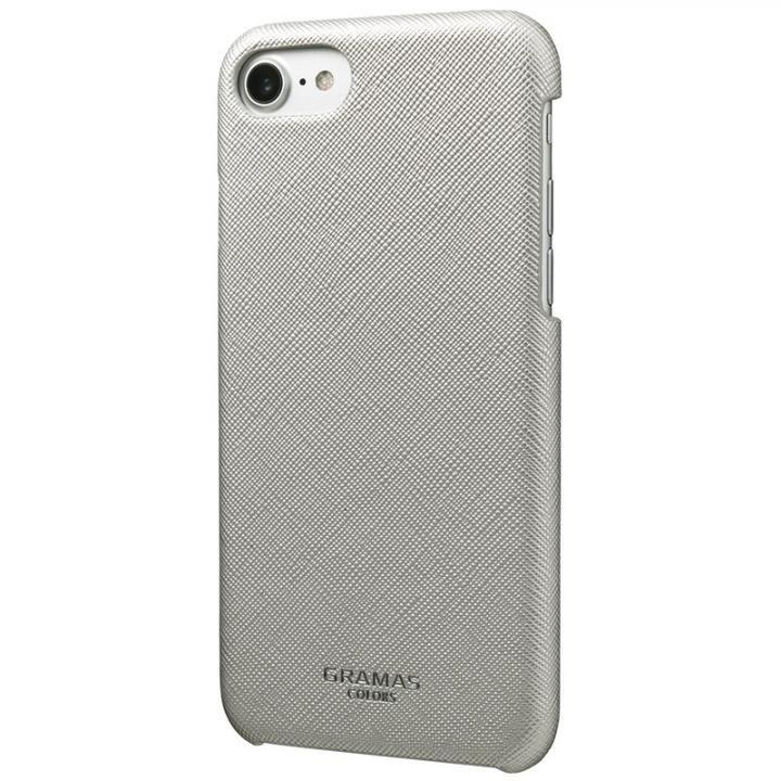 iPhone8/7/6s/6 ケース GRAMAS COLORS Quadrifoglio PUレザー背面ケース プラチナシルバー iPhone 8/7/6s/6_0