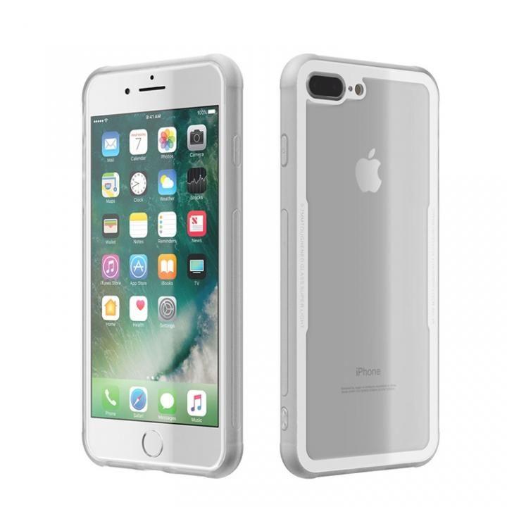 【iPhone8 Plus/7 Plusケース】背面強化ガラスケース EUREKA ホワイト iPhone 8 Plus/7 Plus_0