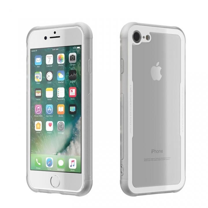 iPhone8/7 ケース 背面強化ガラスケース EUREKA ホワイト iPhone 8/7_0