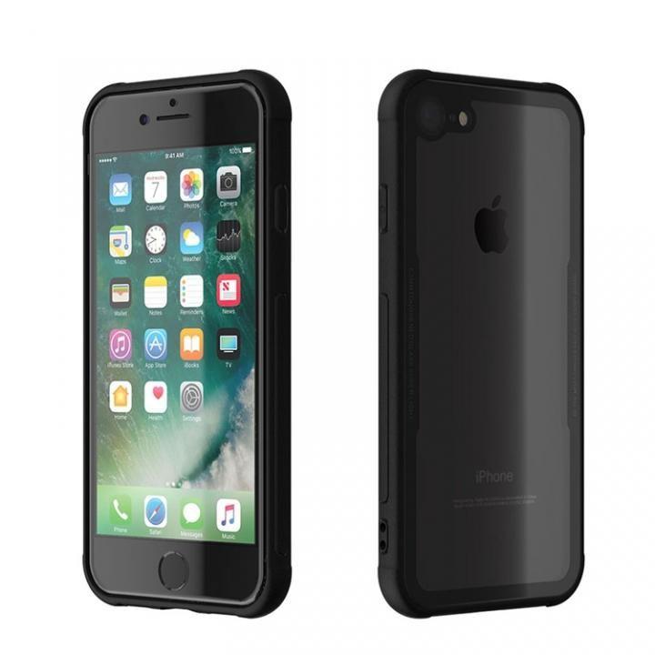 iPhone8/7 ケース 背面強化ガラスケース EUREKA ブラック iPhone 8/7_0