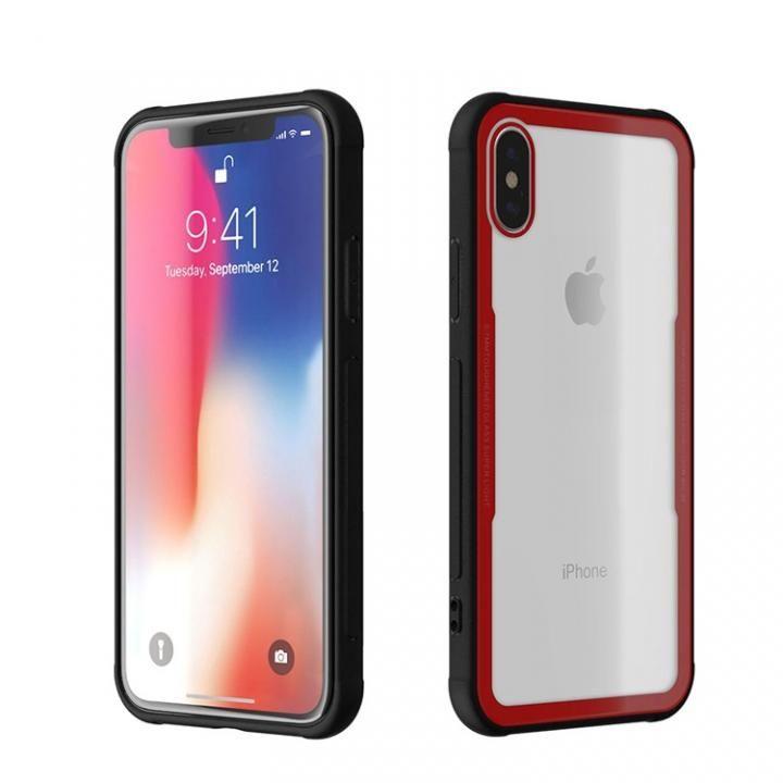 iPhone X ケース 背面強化ガラスケース EUREKA レッド iPhone X_0