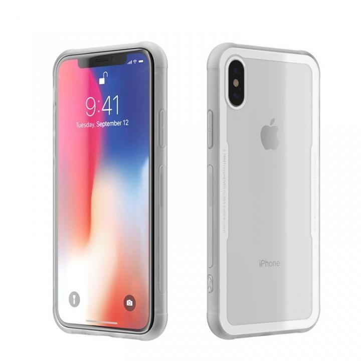 iPhone X ケース 背面強化ガラスケース EUREKA ホワイト iPhone X_0