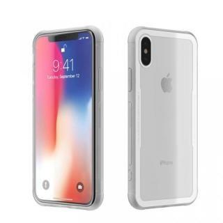 【iPhone Xケース】背面強化ガラスケース EUREKA ホワイト iPhone X