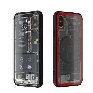 背面強化ガラスケース Eureka Translucent レッド iPhone X