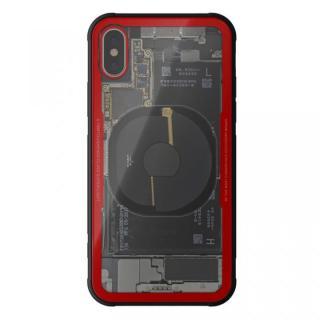 【iPhone Xケース】背面強化ガラスケース Eureka Translucent レッド iPhone X_1