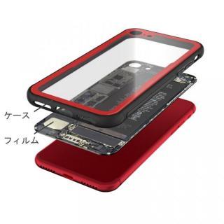 【iPhone Xケース】背面強化ガラスケース Eureka Translucent レッド iPhone X_3