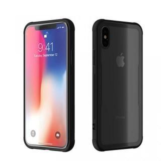 iPhone X ケース 背面強化ガラスケース EUREKA ブラック iPhone X