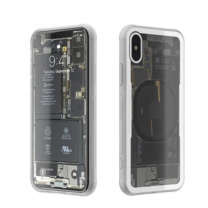 iPhone X ケース 背面強化ガラスケース Eureka Translucent ホワイト iPhone X_0